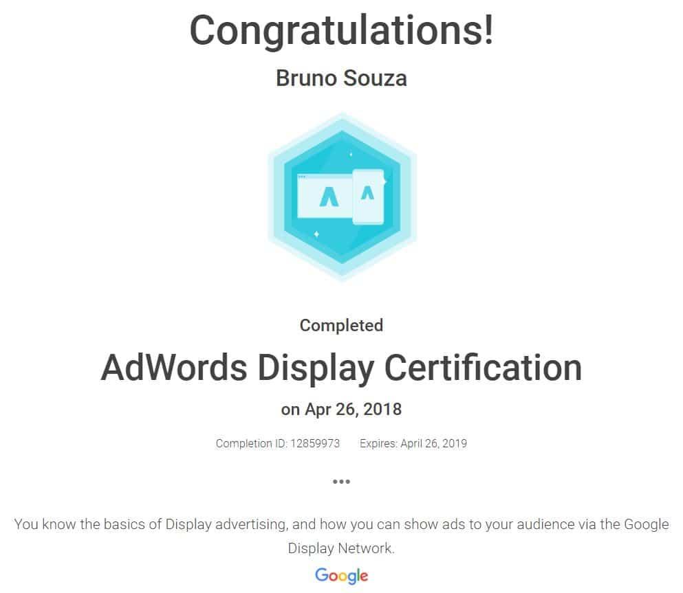 Black Swan Media Co Google Adwords Display Qualification