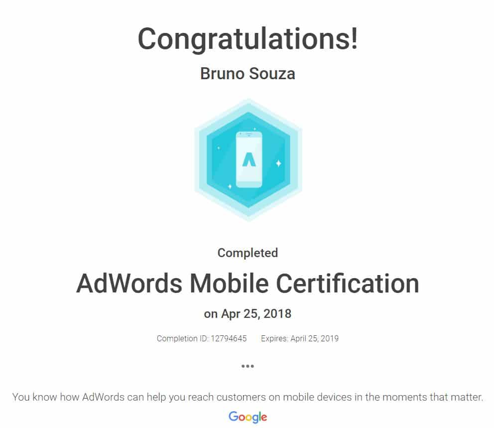 Black Swan Media Co Google Adwords Mobile Qualification