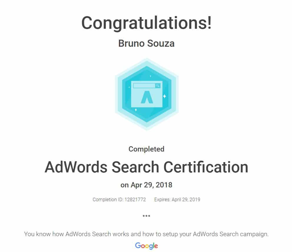 Black Swan Media Co Google Adwords Search Qualification