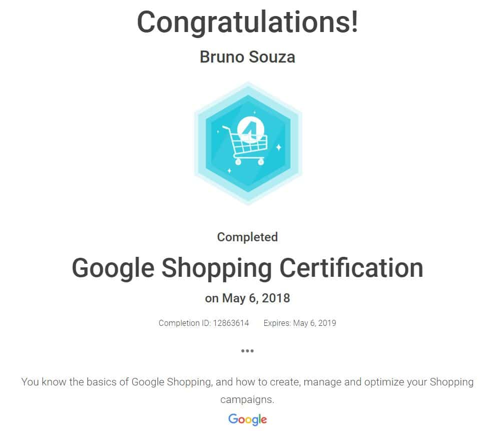 Black Swan Media Co Google Adwords Shopping Qualification
